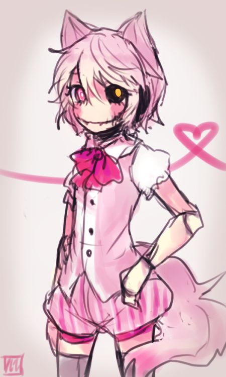 """foxy 2.0<-----No, it's not """"foxy 2.0"""", it's humanize mangle. Ugh >>> calm down. Some people call her/him Foxy 2.0 some call her/him Mangle. Chill. I call her mangle"""