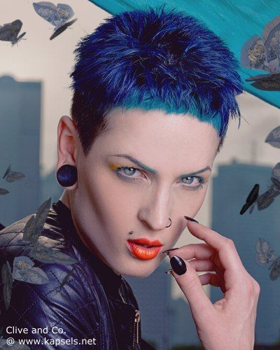 Kapsels Blauw Haar - Korte Kapsels