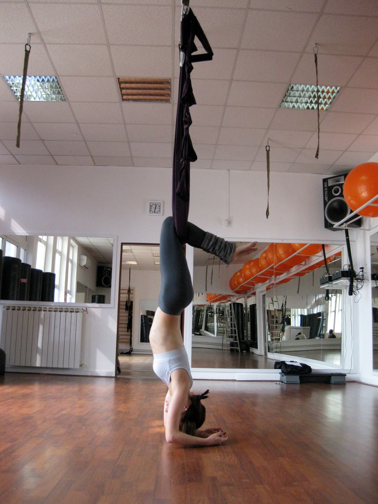 Aerial yoga...helps with spinal Aerial