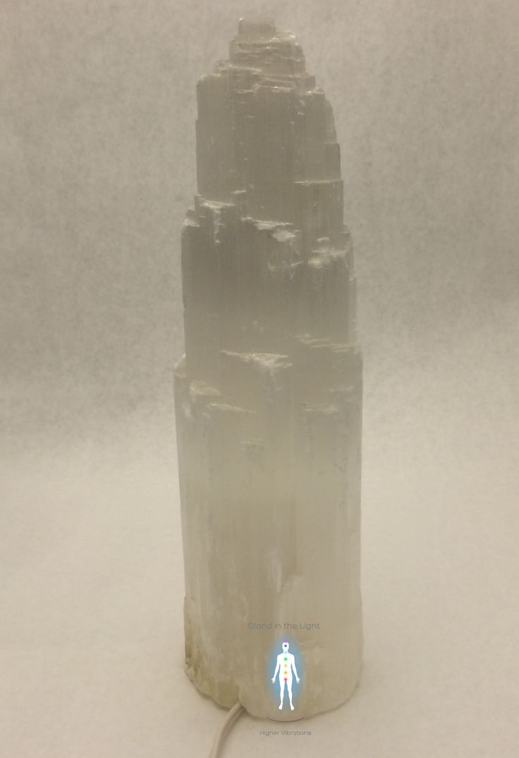 Come Stand In The Light | Selenite Tower Lamp Large