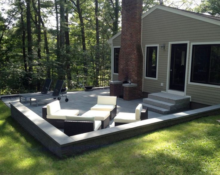 Merveilleux This Gorgeous Massachusetts Patio Was Created Using: Pavingstones:  Ledgestone XL Wall: Bluestone Blend Pavers. Backyard Design Inspiration  With Cambridge ...