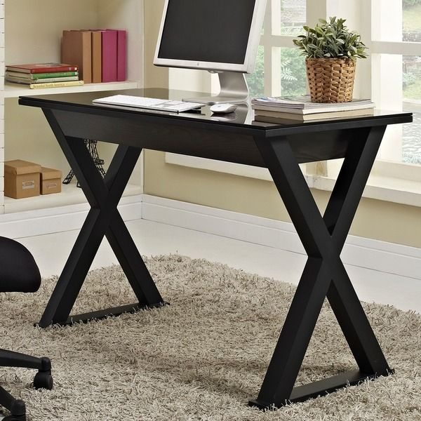 48 in. Black Glass Metal Computer Desk - Overstock Shopping - Great Deals on Desks
