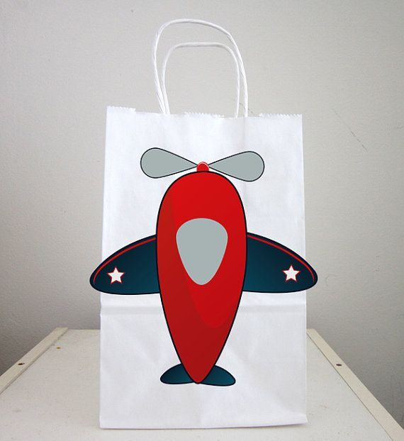 Bolsas de chuchería de avión aeroplano Favor bolsos por CraftyCue