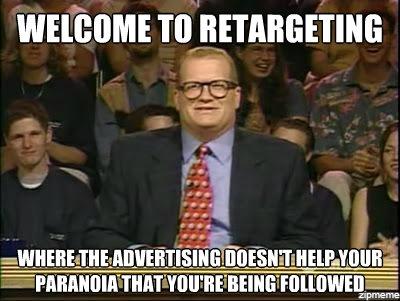 Retargeting warning for paranoid people