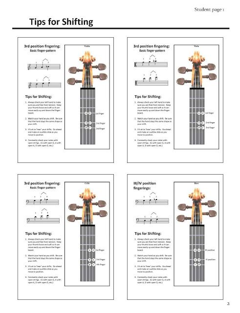123 page resource to help teach shifting in string orchestra!