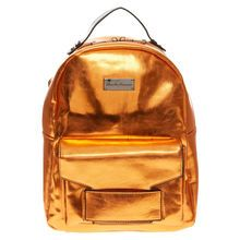 Claudia Canova Metallic Orange Backpack