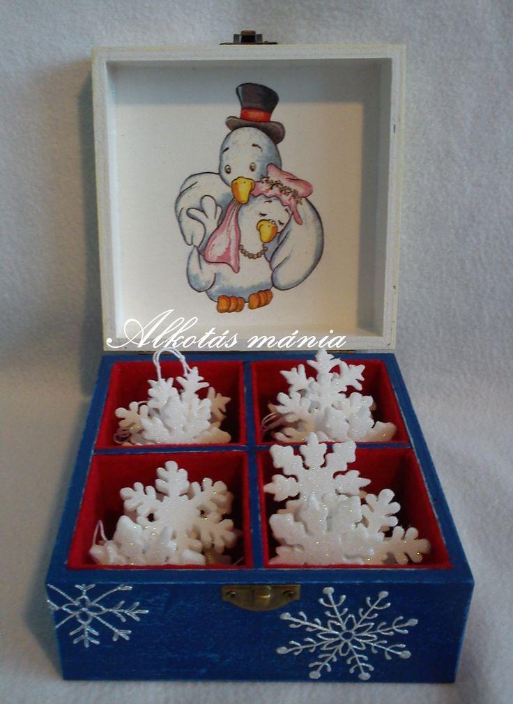 #karácsony##hóemberes##doboz##tél##festett#dekupázs##alkotásmánia#