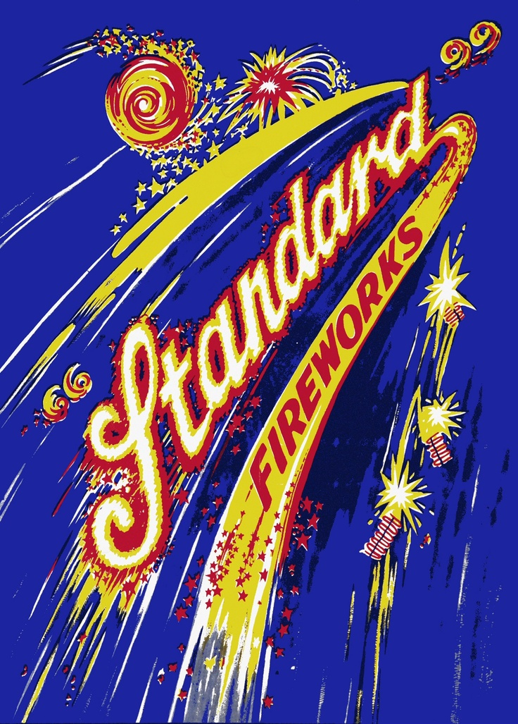 """A very colourful poster from Standard Fireworks. Taken from the selected images for my new book """"Fire - Fascination, Firework and Festival"""" Out in April/May"""