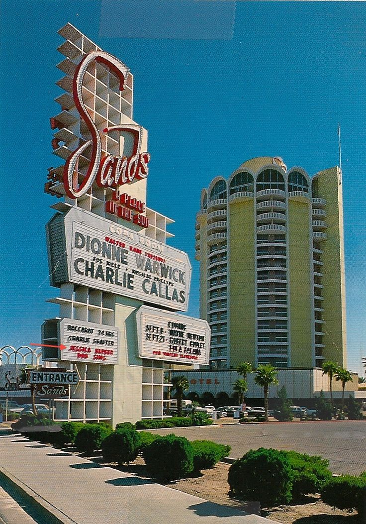 The Sands Hotel and Casino, Las Vegas, NV. (Demolished) Replaced by the Venetian Hotel and the Sands Expo Center