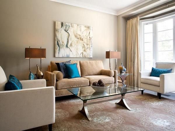 Living Room Design Blue And Brown   Pesquisa Google Part 76