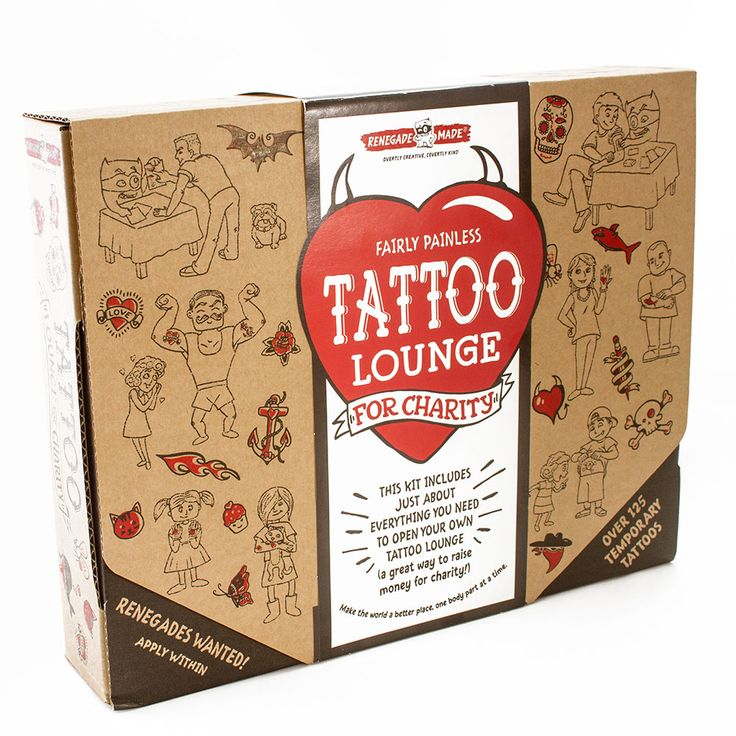Fairly Painless Tattoo Lounge for Charity and thousands more of the very best toys at Fat Brain Toys. Pick your favorite charity to donate the proceeds to and then set up shop to raise money by covering people in colorful tattoos. It's a brilliant and FUN way to pull your neighbors together for a great cause that helps the community - Or even the world!