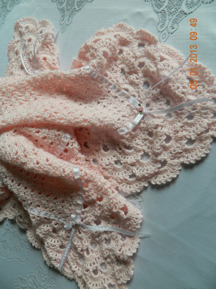 Peach Crochet Baby Blanket