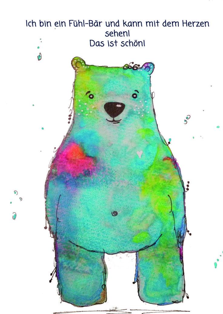 Feel bear power card for kids