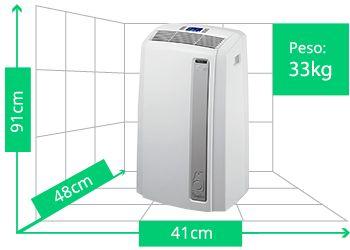 Ar Condicionado Portátil DeLonghi Pinguino | Peso: 33kg | Altura: 91cm | Largura: 41cm | Profundidade: 48cm  http://oferta.vc/6bH_
