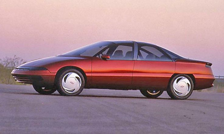 Design elements from the 1988 Chevrolet Venture concept would appear in GM's lineup of production cars in the early 1990s.  Photo by GM.