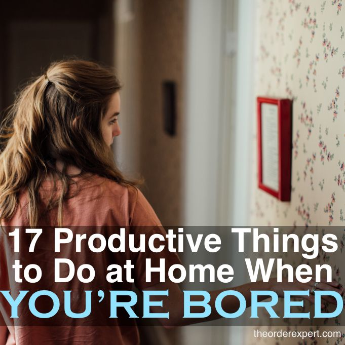 Banish boredom at home with this list of productive household tasks. You'll be surprised at how productive you can be at home!