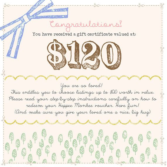 22 best Gift Certificate printables images on Pinterest La la la - photography gift certificate template