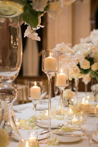 Ivory and green candlelight wedding. Downtown Milwaukee Weddings.