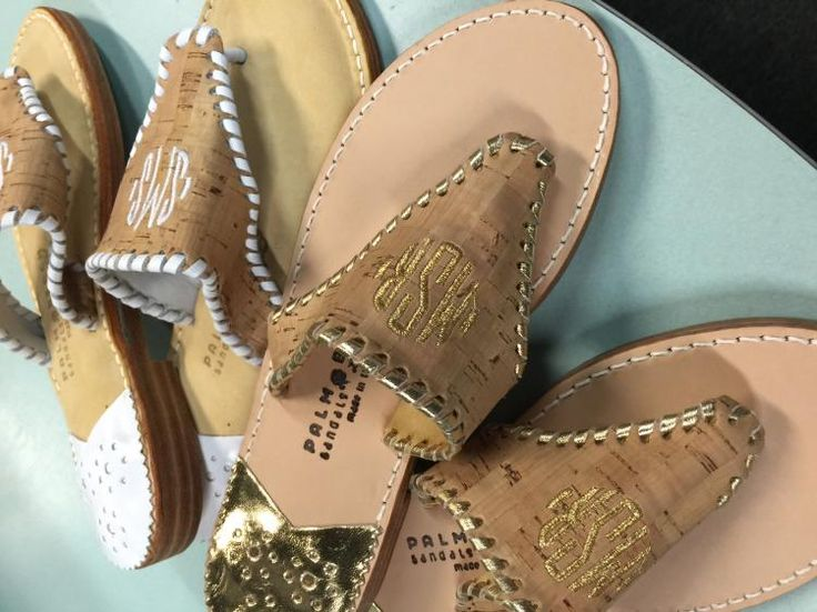 17 best images about monogrammed sandals on pinterest