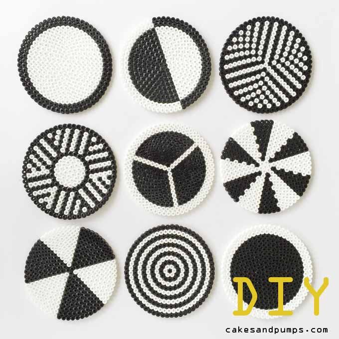 DIY coasters made of Hama ironing beads. Easy to make and very nice to use. Who didn't make something with ironing beads when you were young