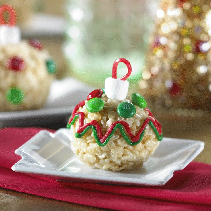 Rice Krispies Tree Trimmer Treats Recipe... Here's a fun Christmas twist on the original Rice Krispies treat…  a super-cute Rice Krispies Tree Trimmer Treat, Great fun with the kids and use colors for your Christmas theme too!