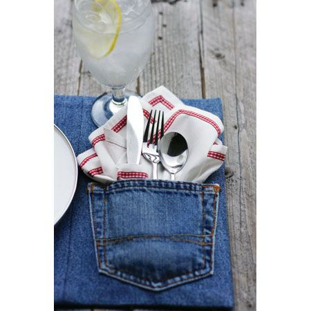 UPSCALING AND REPURPOSING..........PC............DIY Home Accessories made from Upcycled Jeans