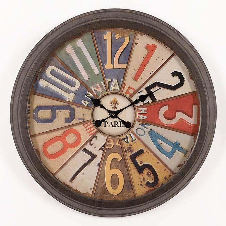 Ceas metalic de perete Roulette