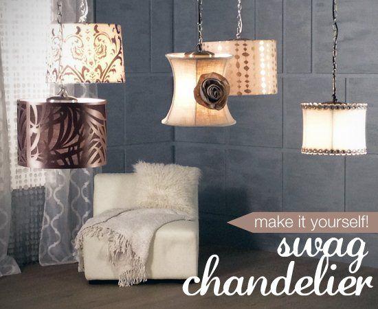 Make Your Own Lighting - A DIY Chandelier Project - 35 Best LIGHTING!!! Images On Pinterest Swag Light, Hanging