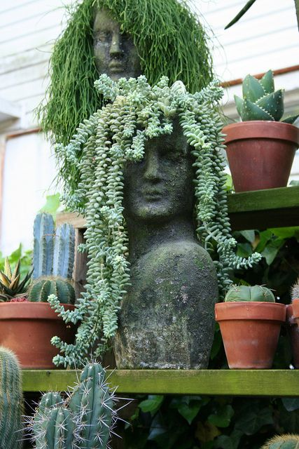25 best ideas about head planters on pinterest outdoor pots and planters diy yard decor and - Medusa head planter ...