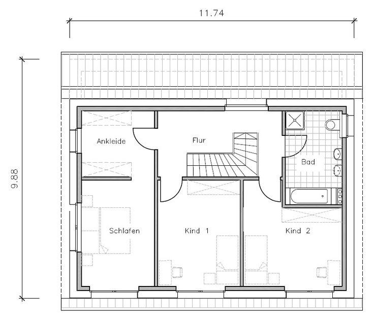 Passivhaus grundriss  Passivhaus Grundriss Obergeschoss   Wohnen   Pinterest