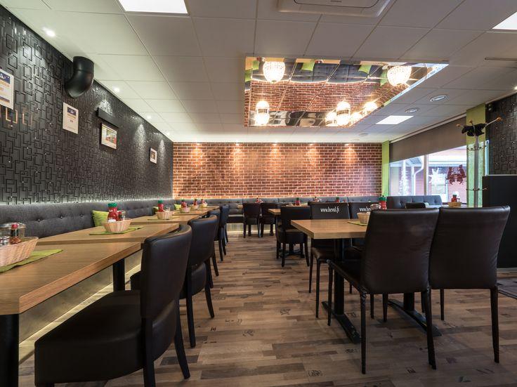 Renewed Pizza-Kebab Heval with charming lighting. Uudistetussa PIzzeria-Kebab Hevalissa on uusi komea LED-valaistus.