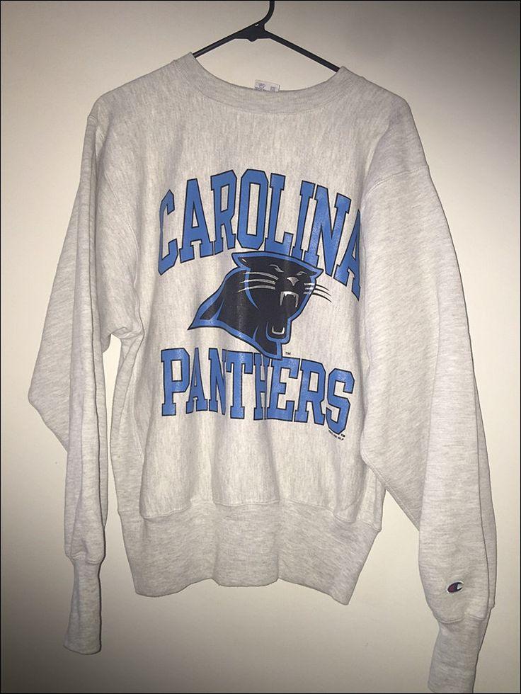 Vintage 90's NFL Carolina Panthers Champion Reverse Weave Crewneck Sweatshirt…