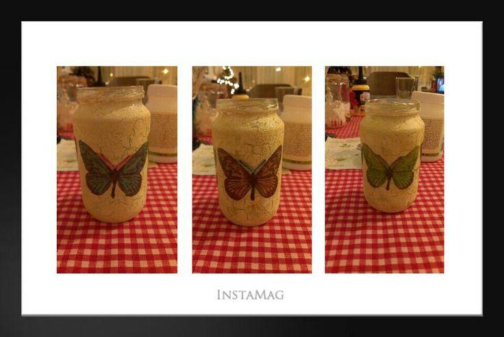 Another diy decoupage jar in progress