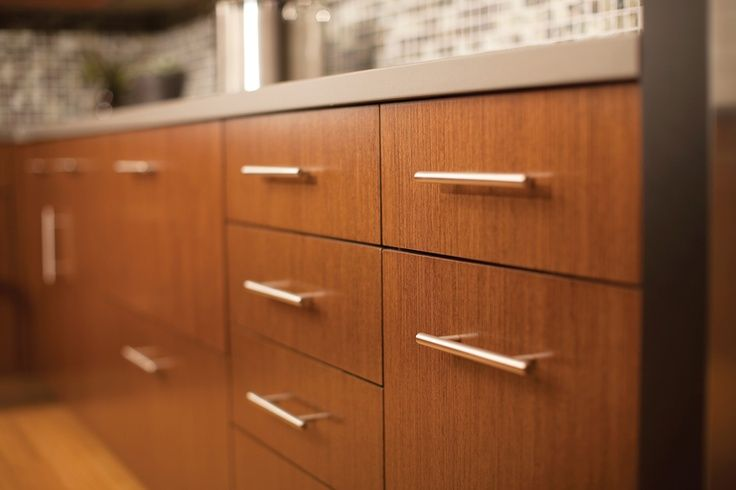 Contemporary cabinets from dura supreme cabinetry dark for Red kitchen cupboard doors