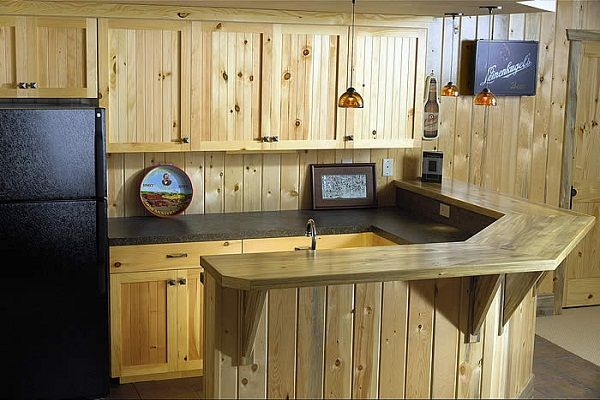 Built in Home Bars Ideas | ... Bar Cabinets for Your Home: Built Wood Wet Bar Cabinets With Sink