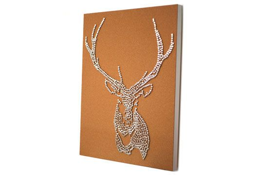 DIY Stag Deer Head Drawing Pin Art