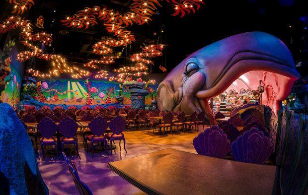 A Little Mermaid themed restaurant at Disney!