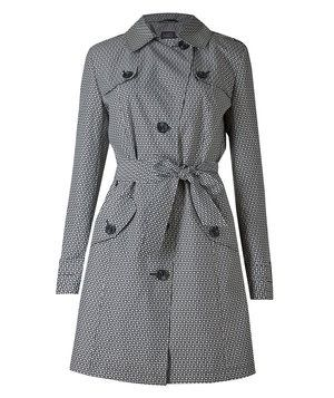 High street style from across the pond—this coat from beloved British brand Marks & Spencer has a graphic black and white print that's perfect for perking up dreary days.