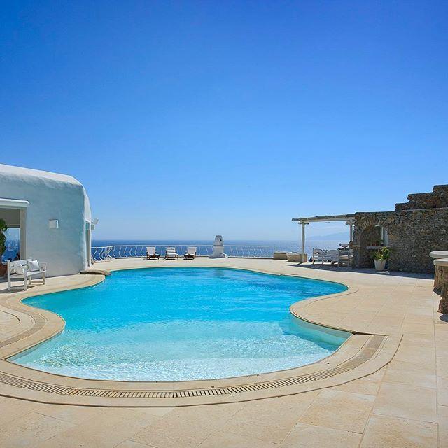 To rent Villa Haldis, Mykonos, Greece  ...  #holiday #rent #villa #Mykonos #Greece #relax #spectacular #tranquil #peaceful #warm #sunny #hot #drinks #cocktails #dining #alfresco #pool #swim #views #Paradisebeach #AegeanSea