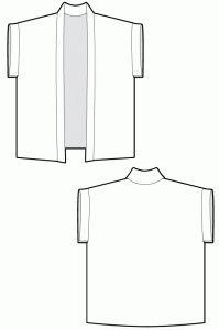 Kimono cover up swimwear - sewing patterns - Ralphpink-patterns.com