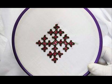 Hand Embroidery - Gujrati Stitch - YouTube