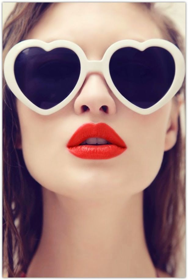 Make your pout pop with these bold lips looks White Heart Shaped Sunglasses 1016 $3.99 Wholesale 1.50 ea