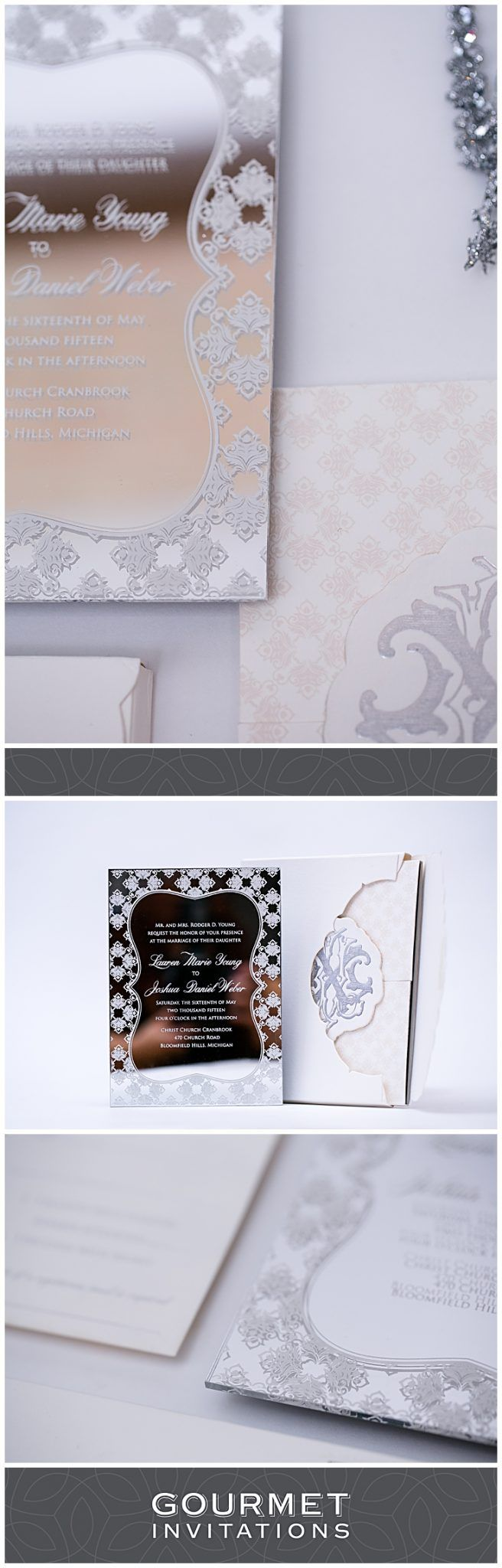 not on the high street winter wedding invitations%0A Mirror Invitation Ideas For Your Wedding