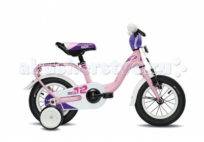Велосипед двухколесный Scool niXe 12  Детский велосипед Scool niXe 12 для детей с ростом от 90 см от 2-х лет. Специально заниженная алюминиевая рама для удобства в посадке и безопасность при соскоке на раму. Регулировка подъёма руля по высоте для выбора оптимальной посадки.   Полноразмерные металлические крылья для лучшей защиты от грязи. Защитный кожух на цепь предотвращает попадания штанов в систему. Классический педальный тормоз, плюс ручной тормоз переднего колеса.   Вес - 9.4 кг Размер…