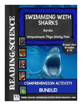 This all-inclusive, No-Prep Student Activity Set is great for teaching and reviewing facts about sharks!Your students will love the REAL PHOTOGRAPHS, original differentiated reading passages, comprehension questions, writing prompts, graphic organizers and more!Contents of the Package Include:Page 1: Cover Page Page 2 & 3: All About Sharks Reading Passage Page 4: All About Sharks Comprehension Questions and Writing PromptPage 5: All About Sharks Graphic OrganizerPage 6 & 7: Shark Adap...