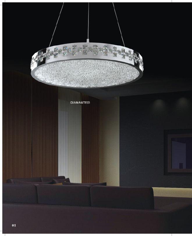 lampadario led : LAMPADARIO LED collezione DIAMANTE 01 di G.M. Lampadari