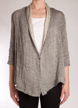 Linen Jacket casual chic: tried to buy one of these in Hong Kong the last time I was there...wasn't able to get it :( sadness