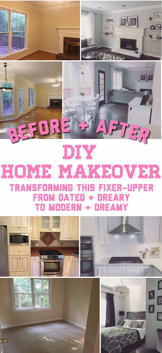 Before and After home renovation decor makeovers home makeover on a budget diy renovation ideas cheap fixer upper kitchen living room kitchen renovation on a budget kitchen before and after