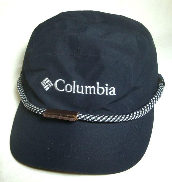 Columbia Sportswear Hat Trucker Beach Omni Tech Blue Elastic Back Hiking Golf   eBay