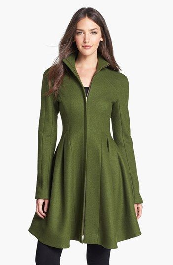 I'm obsessed with this coat!! Nanette Lepore 'Skyscape' Flared Wool Coat   Nordstrom